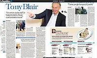 Tony Blair photographed for La Repubblica. May 2017