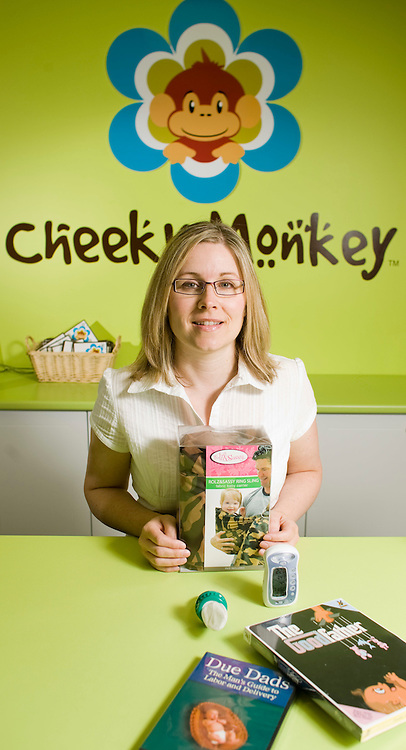 London, Ontario ---27/08/07--- Krista Williamson, owner of Cheeky Monkey, a maternity, baby and toddler boutique in London, Ontario, has a large assortment of products designed for men..GEOFF ROBINS The Globe and Mail