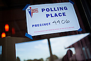 A silhouette of a man is reflected in the window of Pioneer Mobile Home Park during the California Presidential Election in Milpitas, California, on June 7, 2016. (Stan Olszewski/SOSKIphoto)
