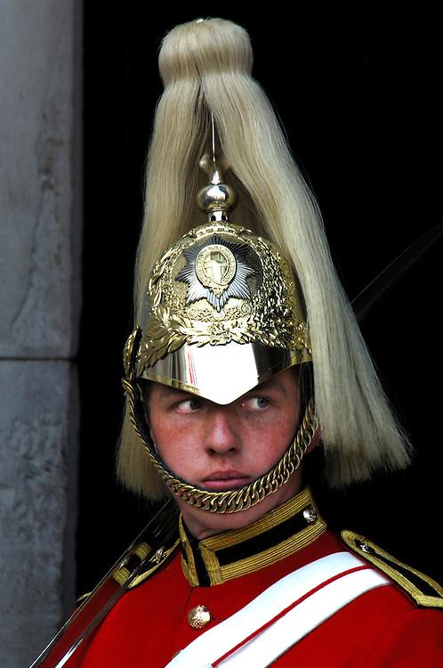 Guard at Horse Guards, Strand, London, Great Britain, UK
