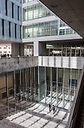 Milan, SDA Bocconi School of Management, the entrance of the exhibition area