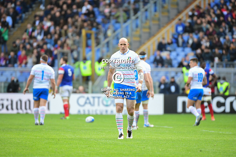 Sergio Parisse of Italy during the Guinness Six Nations match between Italy and France on March 16, 2019 in Rome, Italy. (Photo by Dave Winter/Icon Sport)