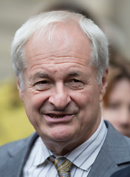 © Licensed to London News Pictures. 27/09/2016.  Paul Gambaccini leaves Westminster Abbey after attending a Service of Thanksgiving for the Life and Work of Sir Terry Wogan . Veteran broadcaster Sir Terry Wogan died in January 2016. The Irish star had a long and successful career at the BBC, including stints on  radio and TV. London, UK. Photo credit: Peter Macdiarmid/LNP