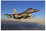 F-16C carrying bombs