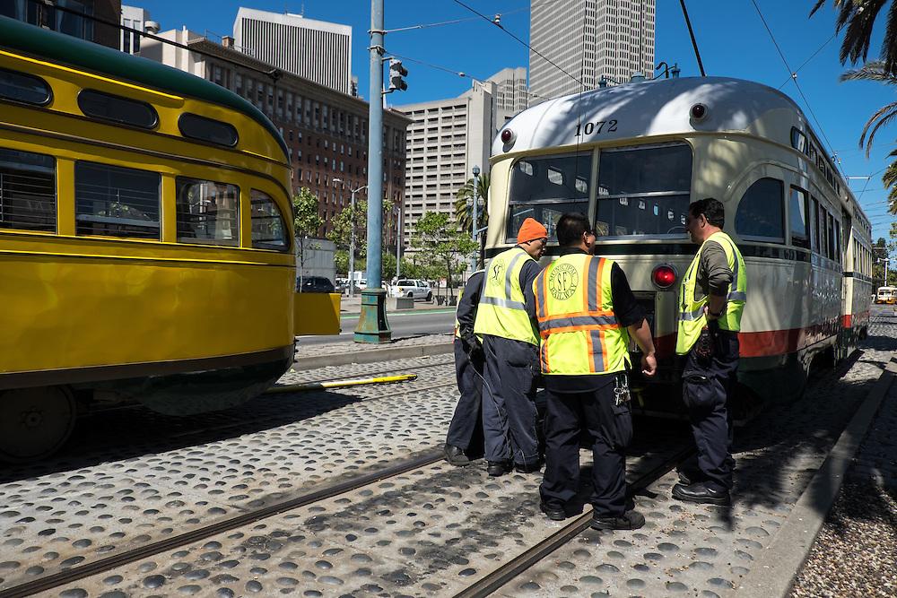 PCC Streetcar 1071 and 1072   May 6, 2014