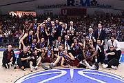 Umana Reyer Venezia team premiazione<br /> Umana Reyer Venezia - Sidigas Scandone Avellino<br /> FIBA Europe Cup 2017/2018<br /> Finale - Gara di Ritorno<br /> Venezia, 02/05/2018<br /> Foto M.Ceretti / Ciamillo-Castoria