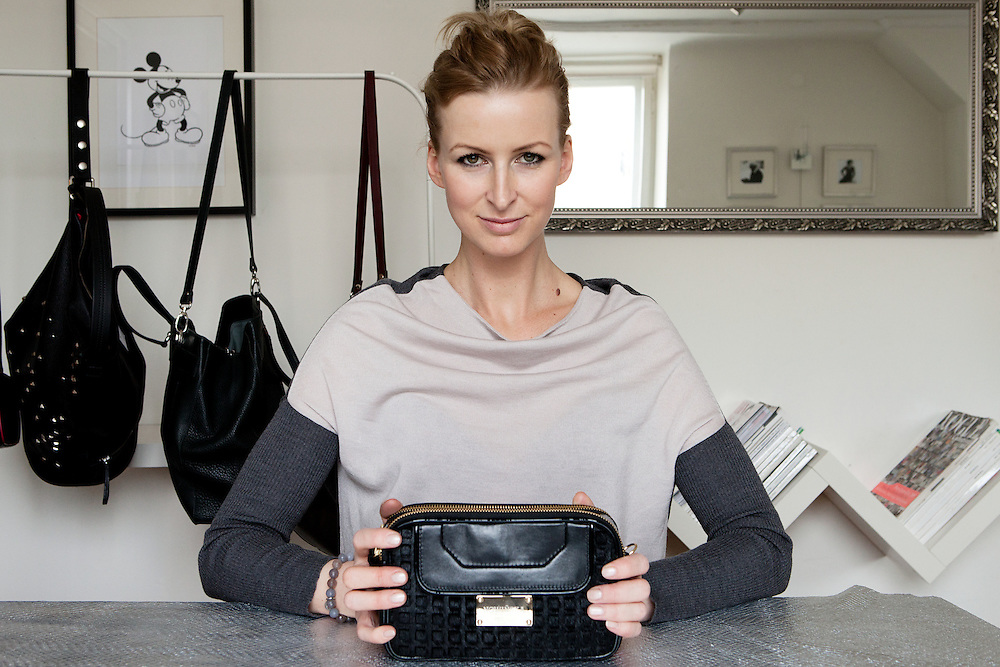 Warsaw, Poland, March 24, 2013. Maria Nowińska, Polish enterpreneur, 33 years old, successful designer of leather bags.