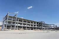Pit building and paddock.<br /> Autodromo Hermanos Rodriguez Circuit Visit, Mexico City, Mexico. Thursday 22nd January 2015.