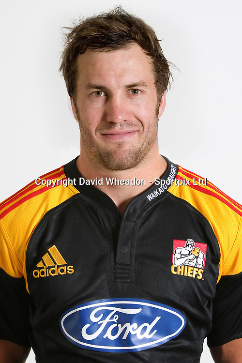 Tom Harding, Chiefs squad 2009 season, headshot portrait, Rebel Sport Super 14, Rugby Union, Waikato Stadium, Hamilton, Waikato, New Zealand, Credit: Sportpix - David Wheadon