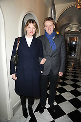 The EARL & COUNTESS OF BURLINGTON he is the son and heir of the 12th Duke of Devonshire at a party to celebrate Penguin's reissue of Nancy Mitford's 'Wigs on The Green' hosted by Tatler at Claridge's, Brook Street, London on 10th March 2010.