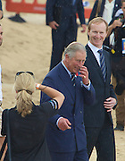 Prince Charles arrives at Bondi Beach, Sydney, Australia. The event is an NRL exhibition match. 09.11.12
