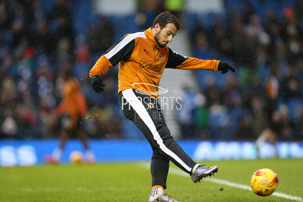 Adam LeFondre during the Sky Bet Championship match between Brighton and Hove Albion and Wolverhampton Wanderers at the American Express Community Stadium, Brighton and Hove, England on 1 January 2016.