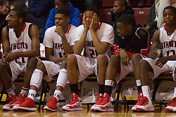 Imhotep Panthers loss with one point from the Neumann-Goretti Saints in a Public League vs Catholic League playoff game. (Bas Slabbers/for NewsWorks)