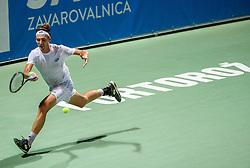 Lukas Klein of Slovakia playing Singles in Quarter - Final of ATP Challenger Zavarovalnica Sava Slovenia Open 2019, day 8, on August 16, 2019 in Sports centre, Portoroz/Portorose, Slovenia. Photo by Vid Ponikvar / Sportida