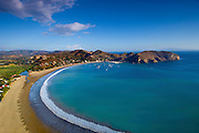 The half moon bay of San Juan del Sur, the Pacific resort town in Nicaragua.