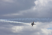 US Navy Blue Angels performing at Skyfest 2008 at Fairchild AFB in Airway Heights, Washington, USA. . PLEASE CONTACT US FOR DIGITAL DOWNLOAD AND PRICING.