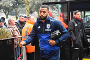 Matt Phillips (10) of West Bromwich Albion arriving at the Vitality Stadium before the Premier League match between Bournemouth and West Bromwich Albion at the Vitality Stadium, Bournemouth, England on 17 March 2018. Picture by Graham Hunt.