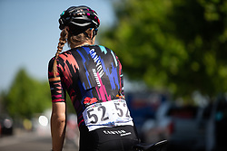 Tanja Erath (GER) of CANYON//SRAM Racing Team is ready for  Stage 1 of the Amgen Tour of California - a 124 km road race, starting and finishing in Elk Grove on May 17, 2018, in California, United States. (Photo by Balint Hamvas/Velofocus.com)