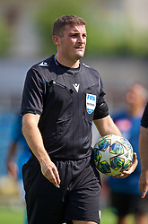 NAPLES, ITALY - Tuesday, September 17, 2019: Referee Trustin Farrugia Cann during the UEFA Youth League Group E match between SSC Napoli and Liverpool FC at Stadio Comunale di Frattamaggiore. (Pic by David Rawcliffe/Propaganda)