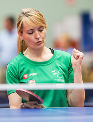 Andreja Dolinar of Slovenia reacts during 15th Slovenia Open - Thermana Lasko 2018 Table Tennis for the Disabled, on May 9, 2018, in Dvorana Tri Lilije, Lasko, Slovenia. Photo by Vid Ponikvar / Sportida