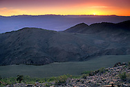 Sunset over the Sierra Crest & Owens Valley seen from the Ancient Bristlecone Pine Forest White Mountains, CALIFORNIA