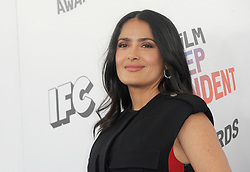 Salma Hayek at the 2018 Film Independent Spirit Awards held at Santa Monica Beach, USA on March 3, 2018.