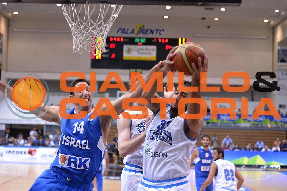 DESCRIZIONE : Trento Basket Cup 2013 Italia Israele<br /> GIOCATORE : Pietro Aradori<br /> CATEGORIA : Rimbalzo<br /> SQUADRA : Nazionale Italia Uomini Maschile<br /> EVENTO : Trento Basket Cup 2013 Italia Israele<br /> GARA : Italia Israele<br /> DATA : 08/08/2013<br /> SPORT : Pallacanestro<br /> AUTORE : Agenzia Ciamillo-Castoria/GiulioCiamillo<br /> Galleria : FIP Nazionali 2013<br /> Fotonotizia : Trento Basket Cup 2013 Italia Israele<br /> Predefinita :