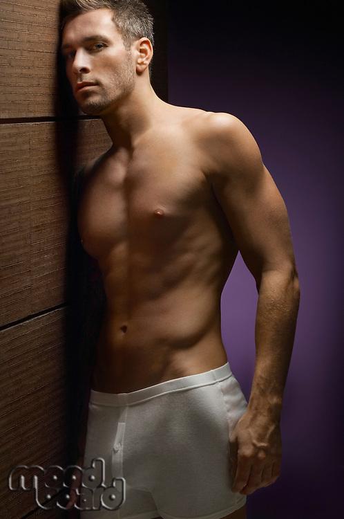 Shirtless Man Wearing Underwear