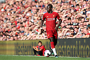 Liverpool forward Sadio Mane (10) during the Premier League match between Liverpool and Arsenal at Anfield, Liverpool, England on 24 August 2019.