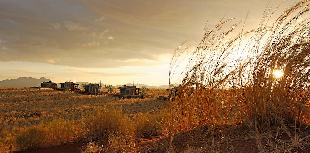 Chalet, Dunes Lodge, Wolwedans Lodge, Namib Rand Nature Reserve, Hardap Region, Namibia.