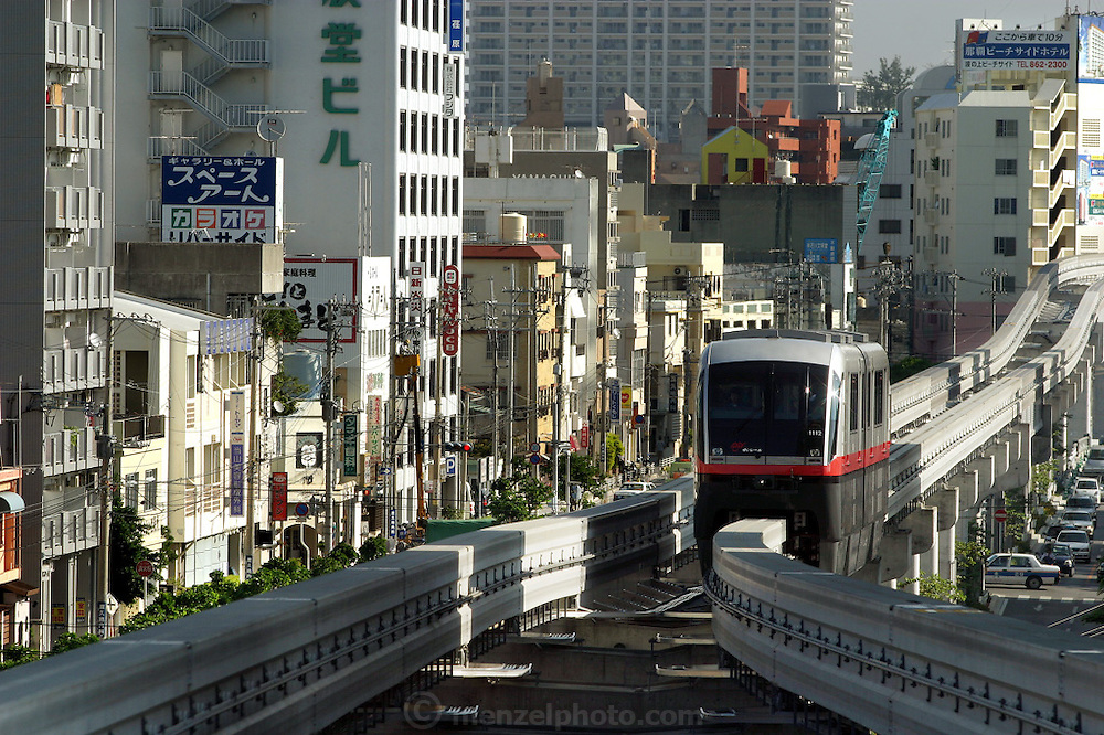 Naha City monorail, Okinawa, Japan. (Supporting image from the project Hungry Planet: What the World Eats.)