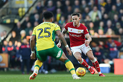 Josh Brownhill of Bristol City on the ball - Mandatory by-line: Arron Gent/JMP - 23/02/2019 - FOOTBALL - Carrow Road - Norwich, England - Norwich City v Bristol City - Sky Bet Championship