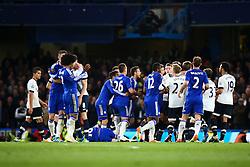 Tempers rise towards the end of the match - Mandatory byline: Jason Brown/JMP - 02/05/2016 - FOOTBALL - London, Stamford Bridge - Chelsea v Tottenham Hotspur - Barclays Premier League