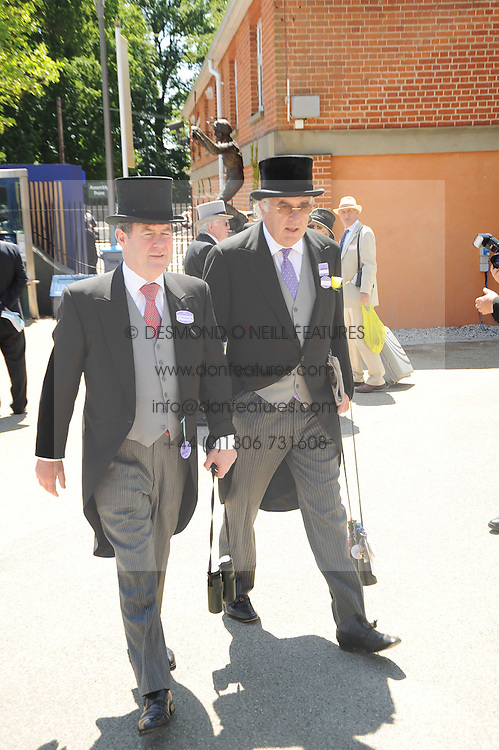Left to right, J P MCMANUS and JOHN MAGNIER at the second day of the 2010 Royal Ascot Racing festival at Ascot Racecourse, Berkshire on 16th June 2010.
