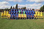 Team photo during the AFC Wimbledon 2018/19 official photocall at the Kings Sports Ground, New Malden, United Kingdom on 31 July 2018. Picture by Matthew Redman.