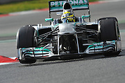 February 19, 2013 - Barcelona Spain. Nico Rosberg, Mercedes GP Petronas F1 Team  during pre-season testing from Circuit de Catalunya.