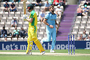 Shaun Marsh is dismissed by Liam Plunkettduring the ICC Cricket World Cup 2019 warm up match between England and Australia at the Ageas Bowl, Southampton, United Kingdom on 25 May 2019.