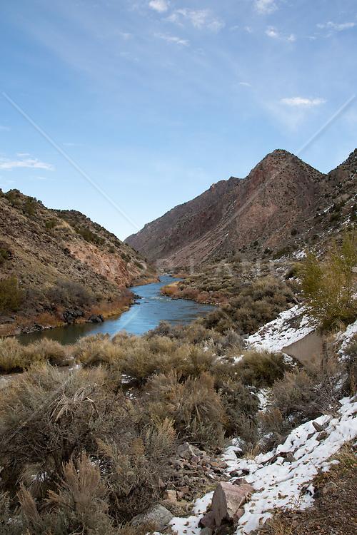 The Rio Grande in Santa Fe, New Mexico