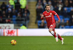 Cardiff City's Adam Le Fondre in action against Watford - Photo mandatory by-line: Paul Knight/JMP - Mobile: 07966 386802 - 28/12/2014 - SPORT - Football - Cardiff - Cardiff City Stadium - Cardiff City v Watford - Sky Bet Championship