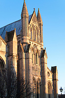 The 13th century Early English south east transept at Beverley Minster showing characteristic plate tracery, lancet windows and dogtooth pattern.