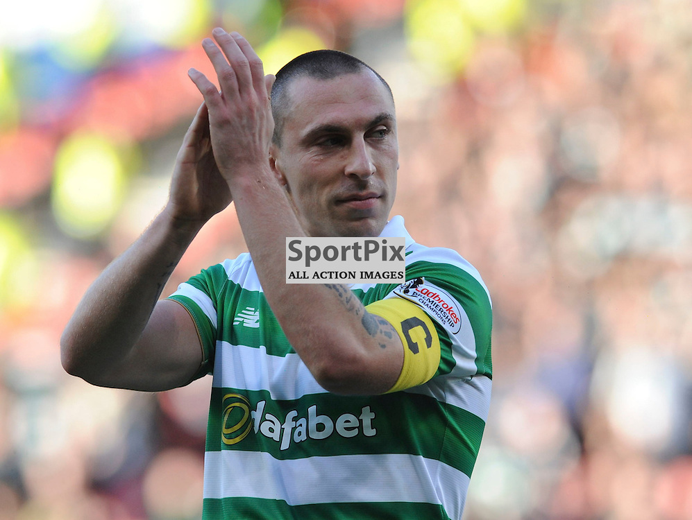 Scott Brown celebrates at fulltime in the match between Rangers v Celtic, Betfred Cup semi-final, Hampden Park, Sunday 23 October 2016, (c) Angie Isac | SportPix.org.uk