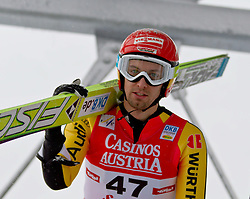 17.12.2011, Casino Arena, Seefeld, AUT, FIS Nordische Kombination, Probedurchgang, Ski Springen, im Bild Bjoern Kircheisen (GER) // Bjoern Kircheise of Germany during the trial round ski jumping at FIS Nordic Combined World Cup in Sefeld, Austria on 20111211. EXPA Pictures © 2011, PhotoCredit: EXPA/ P.Rinderer