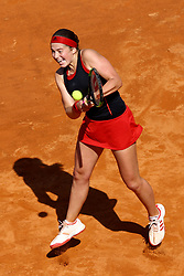 May 18, 2018 - Rome, Italy - Jelena Ostapenko (LAT) at Foro Italico in Rome, Italy during Tennis WTA Internazionali d'Italia BNL quarter-finals on May 18, 2018. (Credit Image: © Matteo Ciambelli/NurPhoto via ZUMA Press)