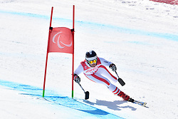 GROCHAR Thomas LW2 AUT competing in ParaSkiAlpin, Para Alpine Skiing, Super G at PyeongChang2018 Winter Paralympic Games, South Korea.