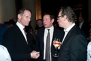 SIR NICHOLAS SEROTA;DIR TATE;  ED VAIZEY; DR. CHRISTOPH GRUNENBERG, DIR TATE LIVERPOOL, Turner Prize 2010. Tate Britain. Millbank. London. 6 December 2010. -DO NOT ARCHIVE-© Copyright Photograph by Dafydd Jones. 248 Clapham Rd. London SW9 0PZ. Tel 0207 820 0771. www.dafjones.com.
