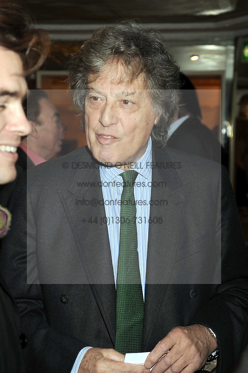 SIR TOM STOPPARD at the 2009 South Bank Show Awards held at The Dorchester, Park Lane, London on 20th January 2009.
