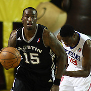 Austin Toros Forward and NBA veteran Josh Howard (15) dribbles the ball up court in the course of a NBA D-league regular season basketball game between the Delaware 87ers (76ers) and the Austin Toros (Spurs) Monday, Jan. 27, 2014 at The Bob Carpenter Sports Convocation Center, Newark, DE