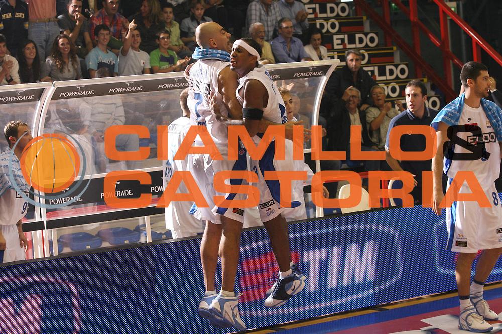DESCRIZIONE : Napoli Lega A1 2006-07 Eldo Napoli Air Avellino <br /> GIOCATORE : Morena Brown <br /> SQUADRA : Eldo Napoli <br /> EVENTO : Campionato Lega A1 2006-2007 <br /> GARA : Eldo Napoli Air Avellino <br /> DATA : 28/10/2006 <br /> CATEGORIA : Esultanza <br /> SPORT : Pallacanestro <br /> AUTORE : Agenzia Ciamillo-Castoria/G.Ciamillo
