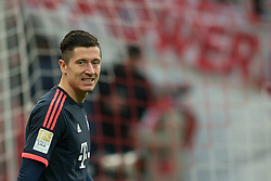 19.03.2016, Rhein Energie Stadion, Koeln, GER, 1. FBL, 1. FC Koeln vs FC Bayern Muenchen, 27. Runde, im Bild Robert Lewandowski (FC Bayern Muenchen #9) // during the German Bundesliga 27th round match between 1. FC Cologne and FC Bayern Munich at the Rhein Energie Stadion in Koeln, Germany on 2016/03/19. EXPA Pictures © 2016, PhotoCredit: EXPA/ Eibner-Pressefoto/ Schüler<br /> <br /> *****ATTENTION - OUT of GER*****
