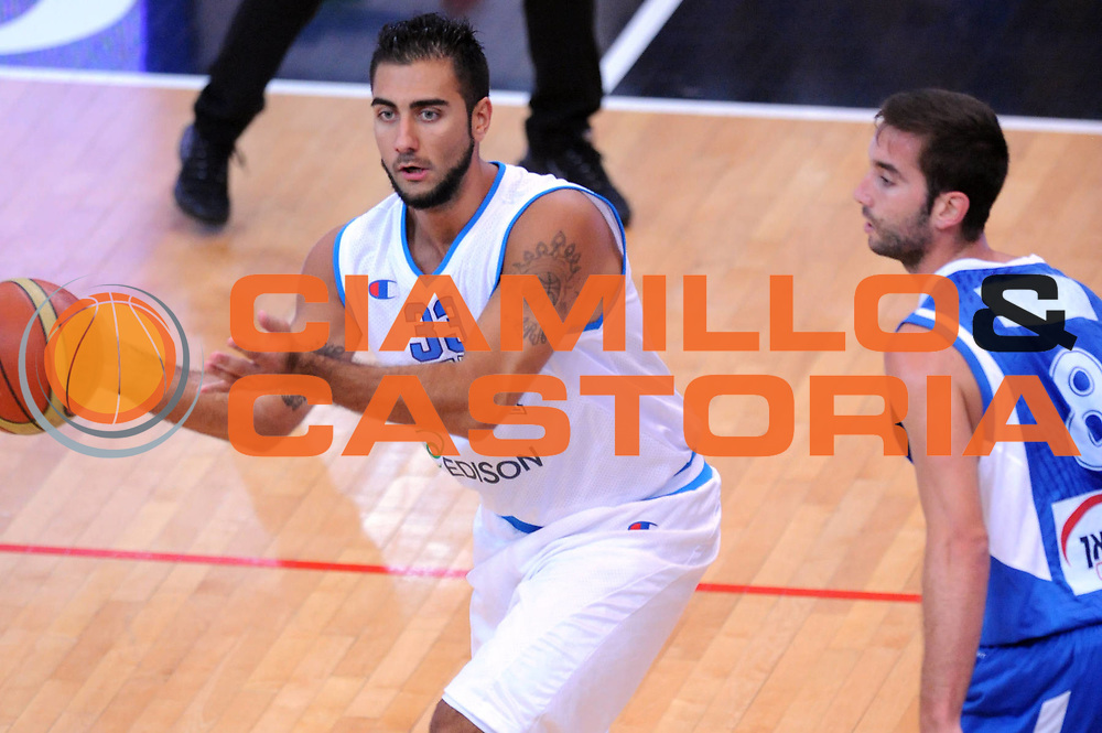 DESCRIZIONE : Trento Trentino Basket Cup Italia Israele<br /> GIOCATORE : Pietro Aradori <br /> CATEGORIA : Passaggio<br /> SQUADRA : Nazionale Italia Maschile<br /> EVENTO :  Trento Trentino Basket Cup<br /> GARA : Italia Israele<br /> DATA : 08/08/2013<br /> SPORT : Pallacanestro<br /> AUTORE : Agenzia Ciamillo-Castoria/Max.Ceretti<br /> Galleria : FIP Nazionali 2013<br /> Fotonotizia : Trento Trentino Basket Cup Italia Israele<br /> Predefinita :